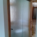Rain Glass room divider with Hydroslide Hardware Fort St. John