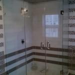 Custom Frameless Shower with Double Doors