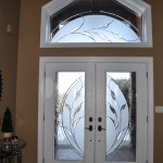 Jeldwen Entry door with ODL Glass in Custom House, Charlie Lake