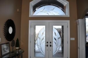 Jeldwen Entry door with ODL Glass in Custom House, Charlie Lake