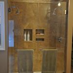 Frameless Glass Double Door Shower installed Charlie Lake