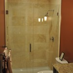 Frameless Straight Wall Shower install Charlie Lake