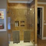 Custom Frameless Double Shower Door install Charlie Lake