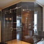 Frameless Glass shower with Laguna Hardware