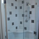 Custom 90 Degree Shower installation, Toews Bros Construction, Fort St. John, BC