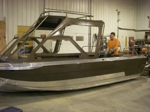 Glass installed in Custom River Boat