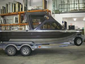 Glass installed in Custom River Boat