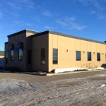 Commercial Aluminum installed for Colteran Developments Fort St. John, BC