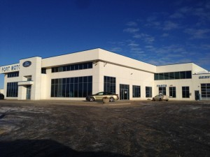 WL Construction-Fort Motors-installed commercial aluminum and glass, Fort St. John