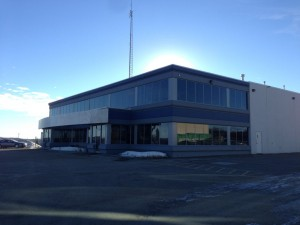 Aluminex Commercial Aluminum instaled for WL Construction-Petron Communications Building, Fort St. John, BC
