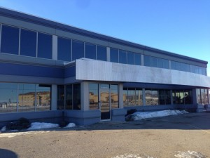 Aluminex Strip Window installed for WL Construction-Petron Communications, Fort St. John, BC
