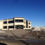 Aluminex Curtain wall installed for WL Construction-Trojan Safety Building, Fort St. John, BC