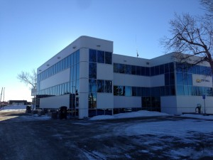 WL Construction-Fort St. John City Hall-Commercial Aluminum installed with Versalux Blue Glass