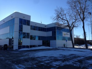 Versalux Blue Glass with Aluminex Aluminum installed in Fort St. John