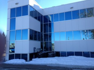 Clear Annodized Aluminex Aluminum installed in Fort St. John City Hall Renovation