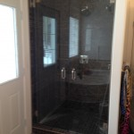Double Shower door install for Climax Contracting, Charlie Lake, BC