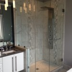 "10mm Clear Custom Shower with 48"" Handle"