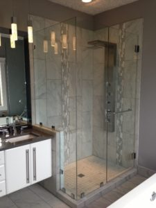 """10mm Clear Custom Shower with 48"""" Handle"""