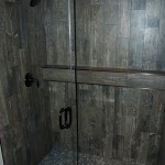 Custom 10mm Clear Tempered Shower for C. Haugan Construction