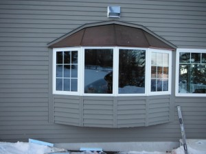 Proof Roof Copper Roof with Jeldwen Bay window install Charlie Lake
