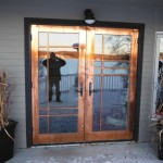 Jeldwen Copper Clad French Door install Fort St. John