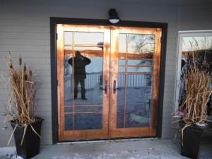 Jeldwen Copper Clad French Door install Fort St. John