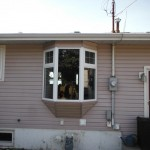 Jeldwen Pvc Bay Window install Fort St. John