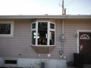 Jeldwen Pvc Bay Window install Fort St. John