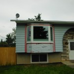 Pella Designer Series Bay Window installation Fort St. John