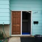 Customer's Door Before Replacement