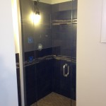Custom Frameless Shower with Header and U-Channel