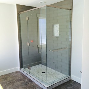 Guenther Homes Custom Frameless Shower in Charlie Lake, BC