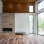 Aluminum Curtain Wall installed into home in Grande Prairie, AB