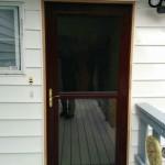 Jeldwen Entry door with Larson Storm Door Installed