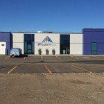 Aluminex aluminum installed in Fort St. John with Blue Glass