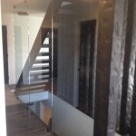 Interior Tempered Glass Wall in Grande Prairie