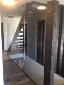 Interior Tempered Glass Wall in Grande Prairie