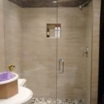 Custom 10mm Clear Tempered Glass shower c/w CR Laurence Deluxe Header, Prima Hinges