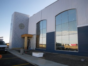 Commercial Curtain Wall install Grande Prairie