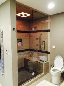 10 mm Clear Tempered Glass Custom Shower installed in Charlie Lake, BC