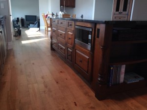 Mirage Hardwood Flooring installed by B2 Construction, Baldonnel, BC