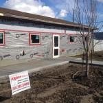 Jeldwen Desert Sand Windows and Aluminex Entry Doors installed in Fort St. John