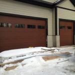 Steel-Craft Elite Series Mahogany CC16 Overhead Doors installed