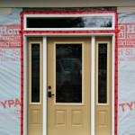 Frame In Overhead Door and install Entry Door
