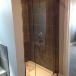 Custom Frameless Shower installed in Fort St. John for Taylor North Developments