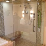 Custom Frameless Shower with Clamps and Prima Hinges