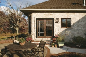 Jeldwen Custom Collection Copper Swinging Patio Door