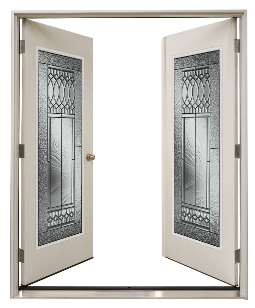 Double garden doors alpine glass windows doors for Outside door with window that opens