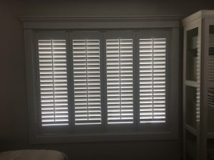 Custom Hunter Douglas Shutters installed