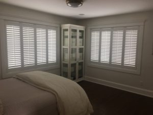 Custom Hunter Douglas Palm Beach Shutters installed